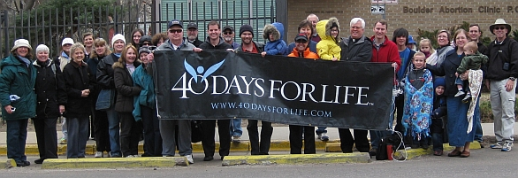 40 Days for life Banner