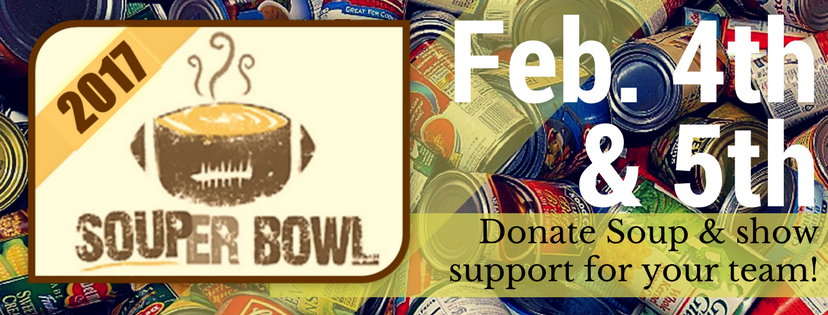 Soup Can Drive : Feb. 4th - 5th | drop off before Masses