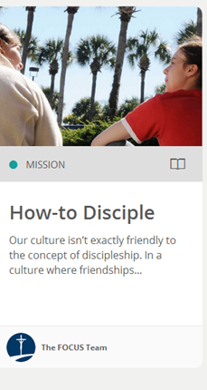 How to Disciple