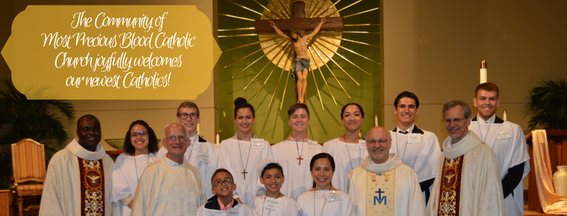 Welcome to our newest Catholics!