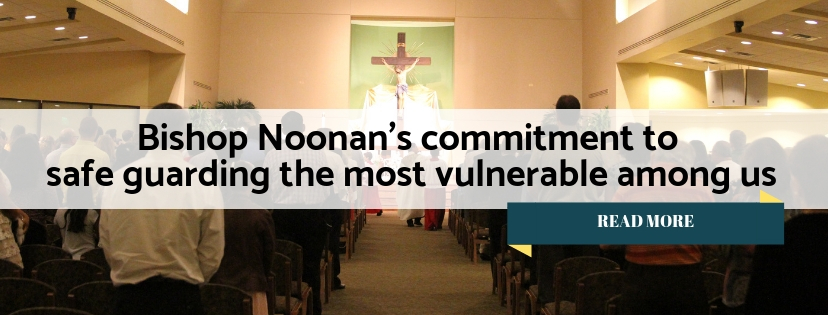 bishop Noonan's commitment to safe guard the vulnerable
