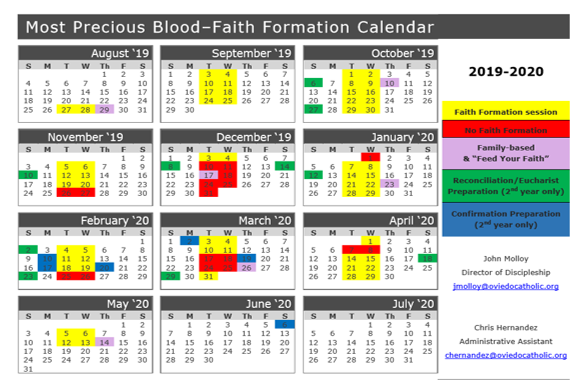 Children's Faith Formation 2019-2020 | Most Precious Blood