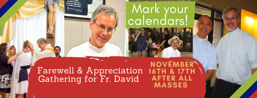 Fr. David Farewell & Appreciation