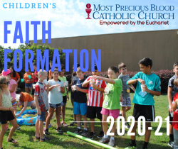 2020-2021 Faith Formation Registration Begins Tuesday, July 7th